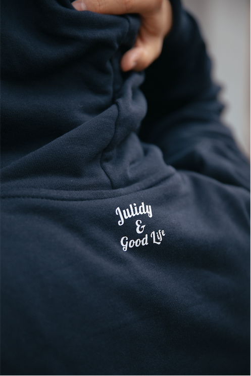 Crazy for my girl  Hoodie 【Navy】