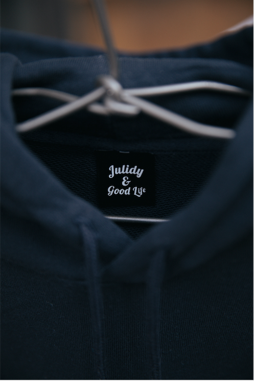 Crazy for my boy  Hoodie 【Navy】