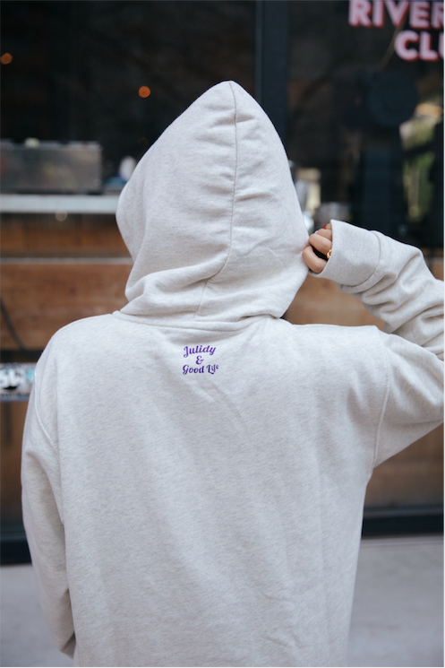 Crazy for my boy  Hoodie 【Oatmeal】
